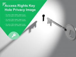 Access Rights Key Hole Privacy Image
