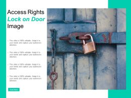 Access Rights Lock On Door Image