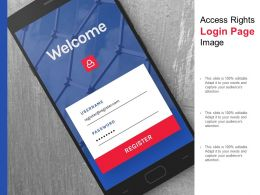 Access Rights Login Page Image