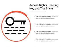 Access Rights Showing Key And The Bricks