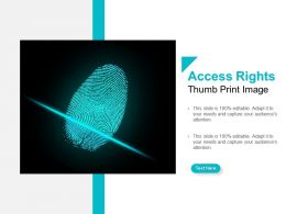 Access Rights Thumb Print Image