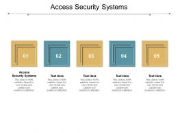 Access Security Systems Ppt Powerpoint Presentation Styles Master Slide Cpb