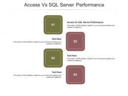 Access Vs SQL Server Performance Ppt Powerpoint Presentation Ideas Summary Cpb