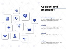 Accident And Emergency Ppt Powerpoint Presentation Outline Examples
