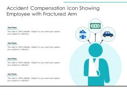 Accident Compensation Icon Showing Employee With Fractured Arm