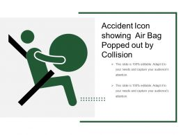 Accident Icon Showing Air Bag Popped Out By Collision