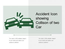 Accident Icon Showing Collison Of Two Car