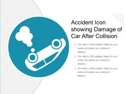 Accident Icon Showing Damage Of Car After Collision