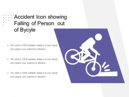 Accident Icon Showing Falling Of Person Out Of Bycyle