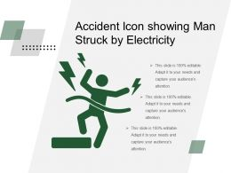 Accident Icon Showing Man Struck By Electricity