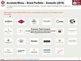 Accolade Wines Brand Portfolio Domestic 2019