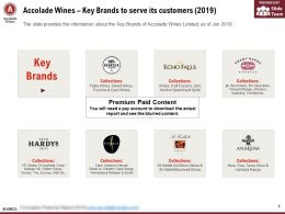 Accolade Wines Key Brands To Serve Its Customers 2019