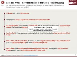Accolade Wines Key Facts Related To The Global Footprint 2019