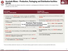Accolade Wines Production Packaging And Distribution Facilities 2019