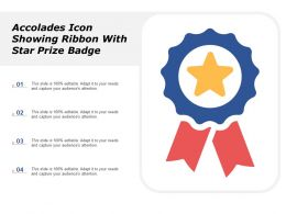 Accolades Icon Showing Ribbon With Star Prize Badge