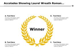 Accolades Showing Laurel Wreath Roman Victory Sign Prize