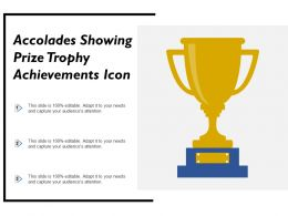 Accolades Showing Prize Trophy Achievements Icon