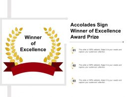 Accolades Sign Winner Of Excellence Award Prize