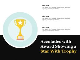 Accolades With Award Showing A Star With Trophy