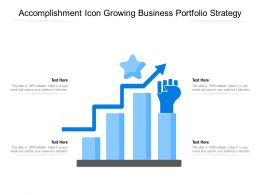Accomplishment Icon Growing Business Portfolio Strategy