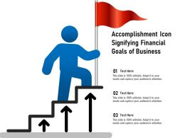 Accomplishment Icon Signifying Financial Goals Of Business