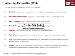 Accor Key Partnerships 2018