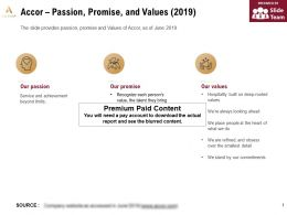 Accor Passion Promise And Values 2019