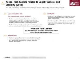 Accor Risk Factors Related To Legal Financial And Liquidity 2018
