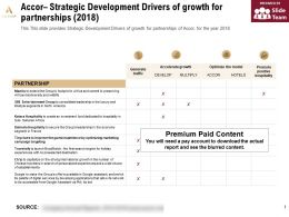 Accor Strategic Development Drivers Of Growth For Partnerships 2018