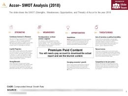 Accor Swot Analysis 2018