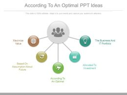 According To An Optimal Ppt Ideas
