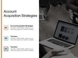 Account Acquisition Strategies Ppt Powerpoint Presentation Ideas Background Cpb