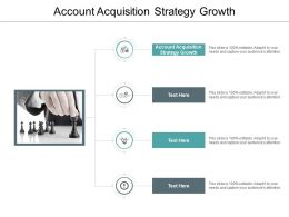 Account Acquisition Strategy Growth Ppt Powerpoint Presentation Slides Images Cpb