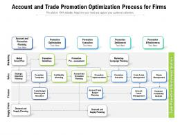 Account And Trade Promotion Optimization Process For Firms
