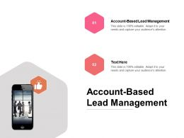Account Based Lead Management Ppt Powerpoint Presentation Slides Gridlines Cpb