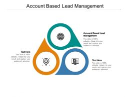 Account Based Lead Management Ppt Powerpoint Presentation Summary Background Designs Cpb