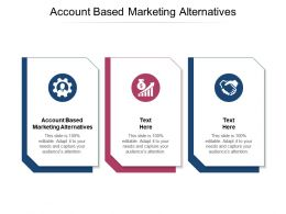 Account Based Marketing Alternatives Ppt Powerpoint Presentation Slides Styles Cpb