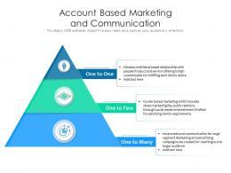 Account Based Marketing And Communication