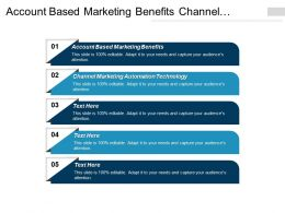 Account Based Marketing Benefits Channel Marketing Automation Technology Cpb