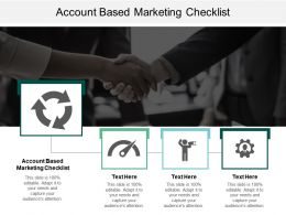 Account Based Marketing Checklist Ppt Powerpoint Presentation Infographics Structure Cpb