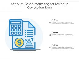 Account Based Marketing For Revenue Generation Icon