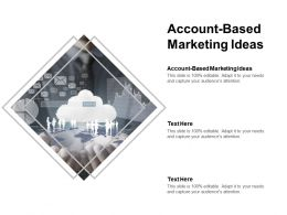 Account Based Marketing Ideas Ppt Powerpoint Presentation Topics Cpb