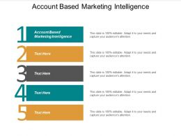 Account Based Marketing Intelligence Ppt Powerpoint Presentation File Designs Cpb