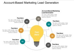 Account Based Marketing Lead Generation Ppt Powerpoint Presentation Diagram Images Cpb