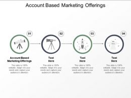 Account Based Marketing Offerings Ppt Powerpoint Presentation Professional Ideas Cpb