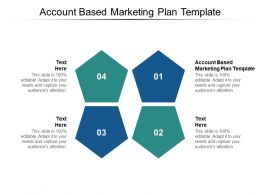 Account Based Marketing Plan Template Ppt Powerpoint Presentation Styles Master Slide