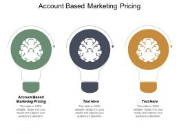 Account Based Marketing Pricing Ppt Powerpoint Presentation Diagram Ppt Cpb