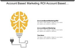 Account Based Marketing Roi Account Based Marketing Abm Analytics Cpb