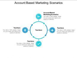 Account Based Marketing Scenarios Ppt Powerpoint Presentation Professional Deck Cpb