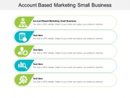 Account Based Marketing Small Business Ppt Powerpoint Presentation Icon Cpb